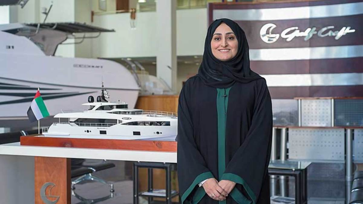 Gulf Craft executive management officer Abeer Alshaali, who grew up in the U.S., sees the American market as an important one for Majesty.