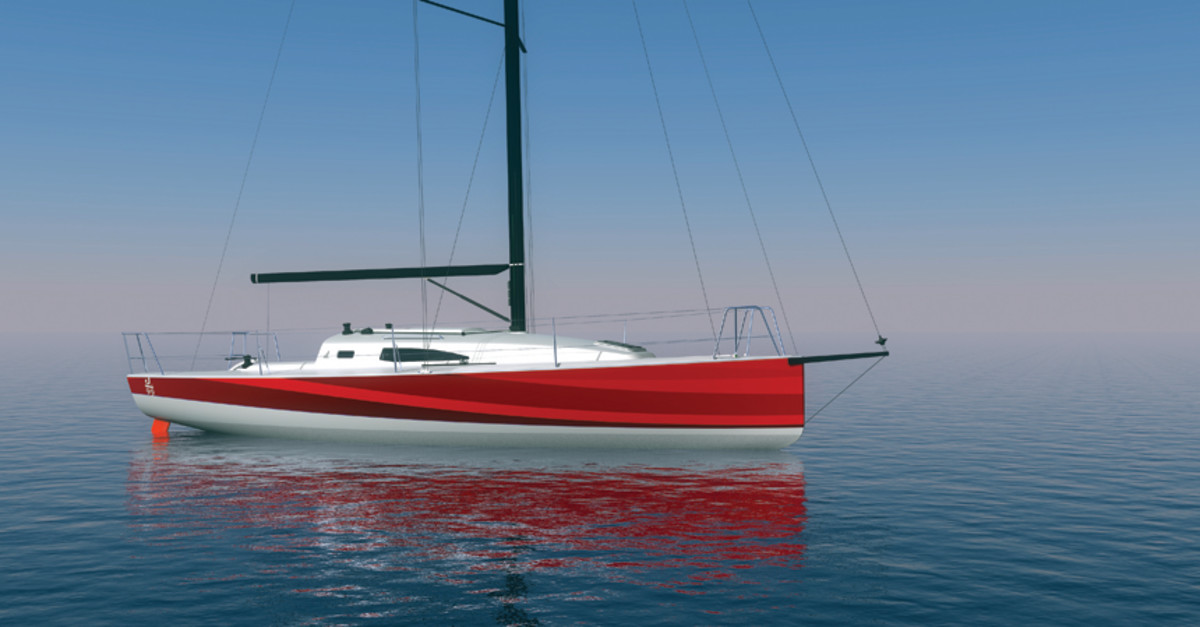 The J/99 will carry 450 pounds of water ballast assist for short-handed sailing.