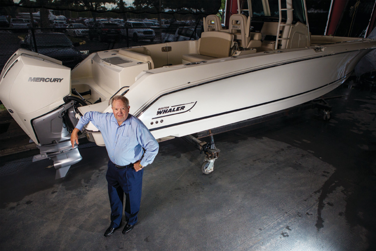 "Chairman Mark Schwabero  has turned Brunswick into a ""pure-play"" marine company  with a focus on the ""entire ecosystem"" rather than just building boats and engines."