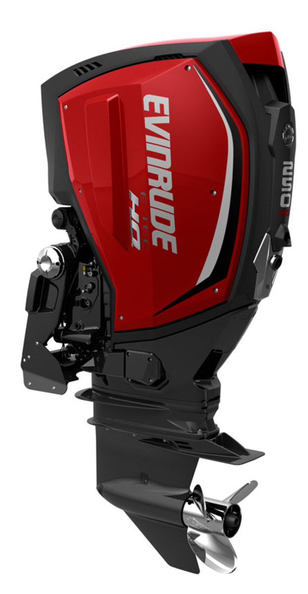 Evinrude's E-TEC G2 250-hp outboard is one of the cleanest-burning outboards on the market.