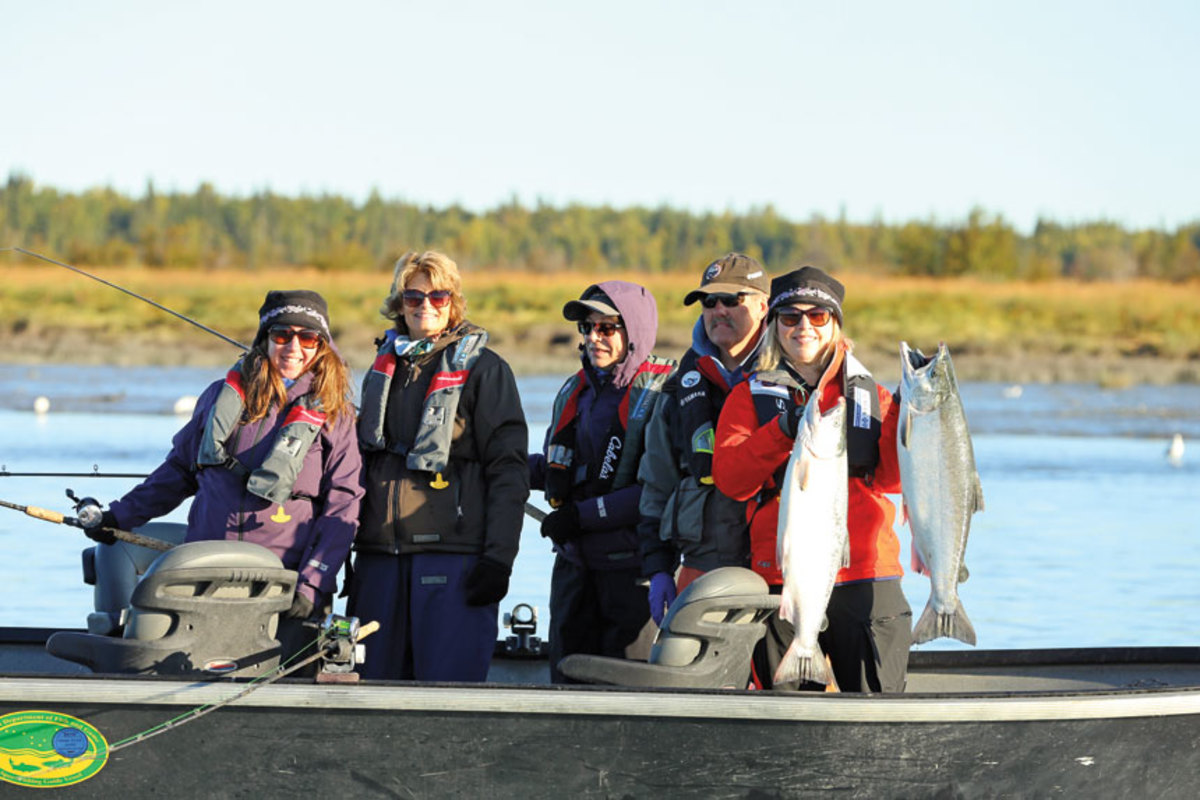 Participants at the Kenai River Women's Classic are spearheading a new wave of female anglers. Companies such as Orvis and FisheWear are making clothing and gear for this emerging market.