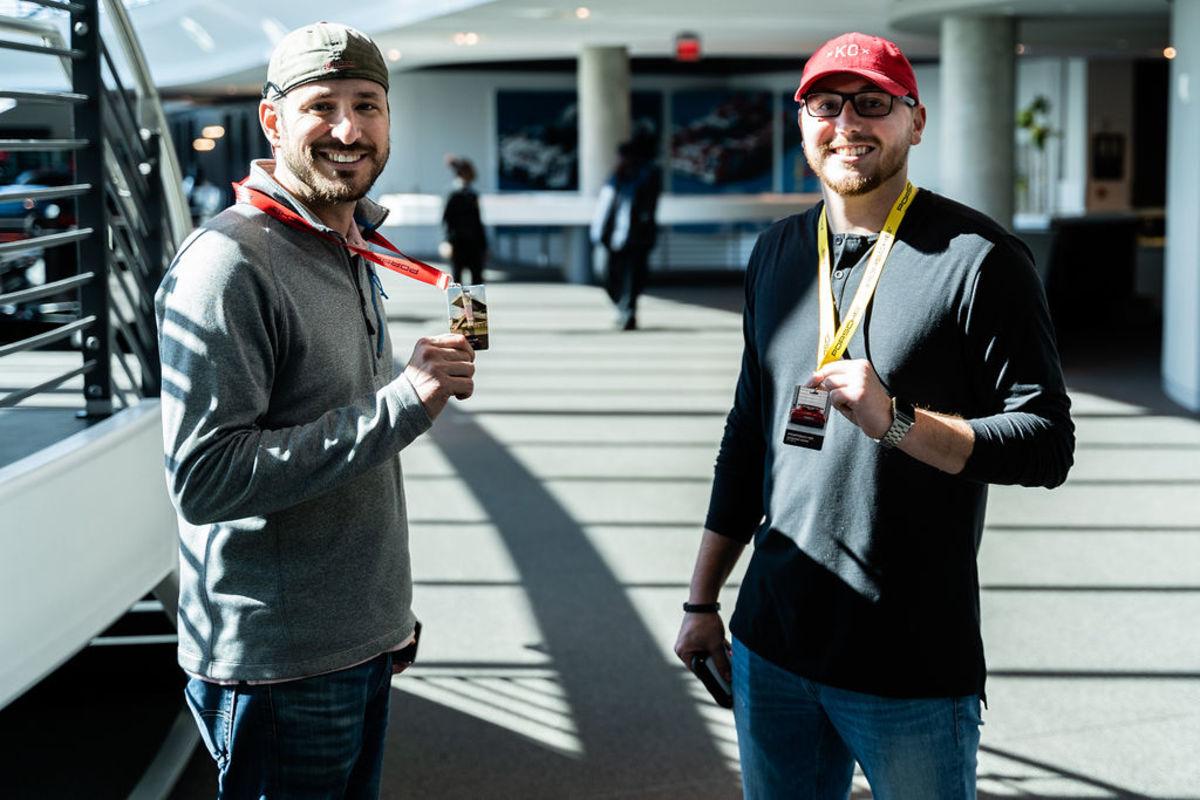 Kelby Phelps (left) enjoyed the Porsche Experience.