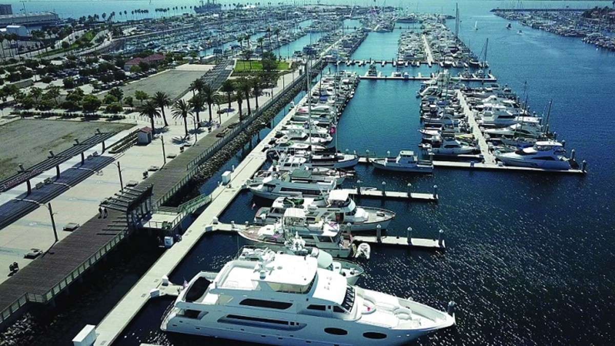 Cabrillo Way Marina is one of the closest facilities to Catalina Island. Photo courtesy Westrec Marinas.