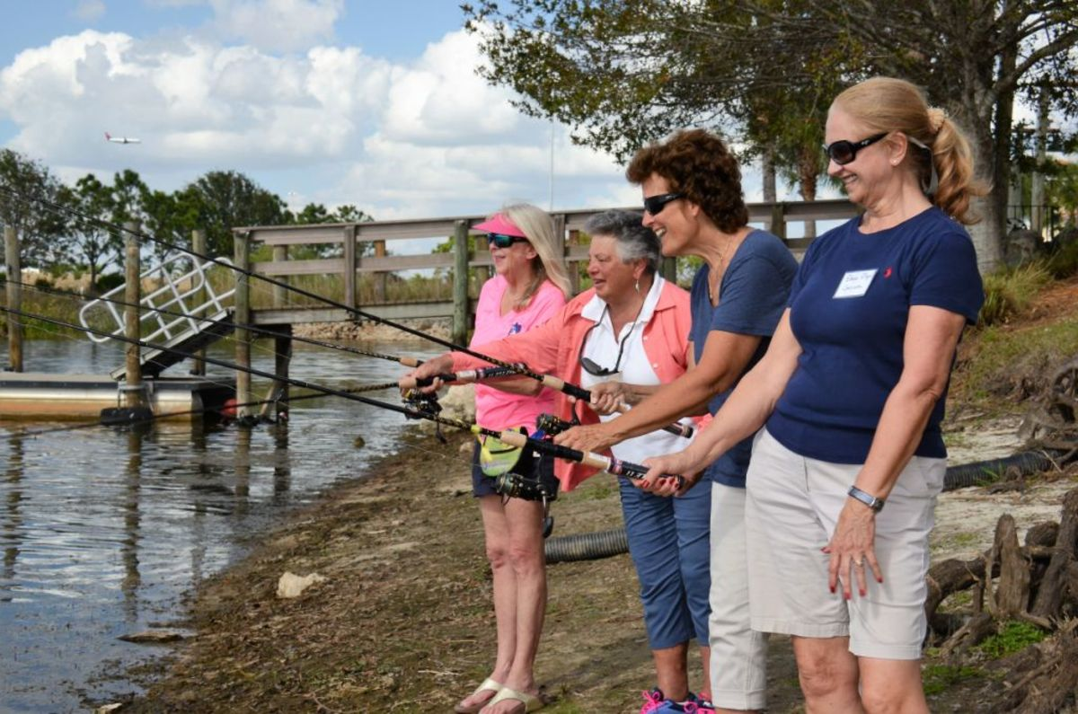 The successful program has continued to attract women anglers. Photo courtesy Ladies, Let's Go Fishing.