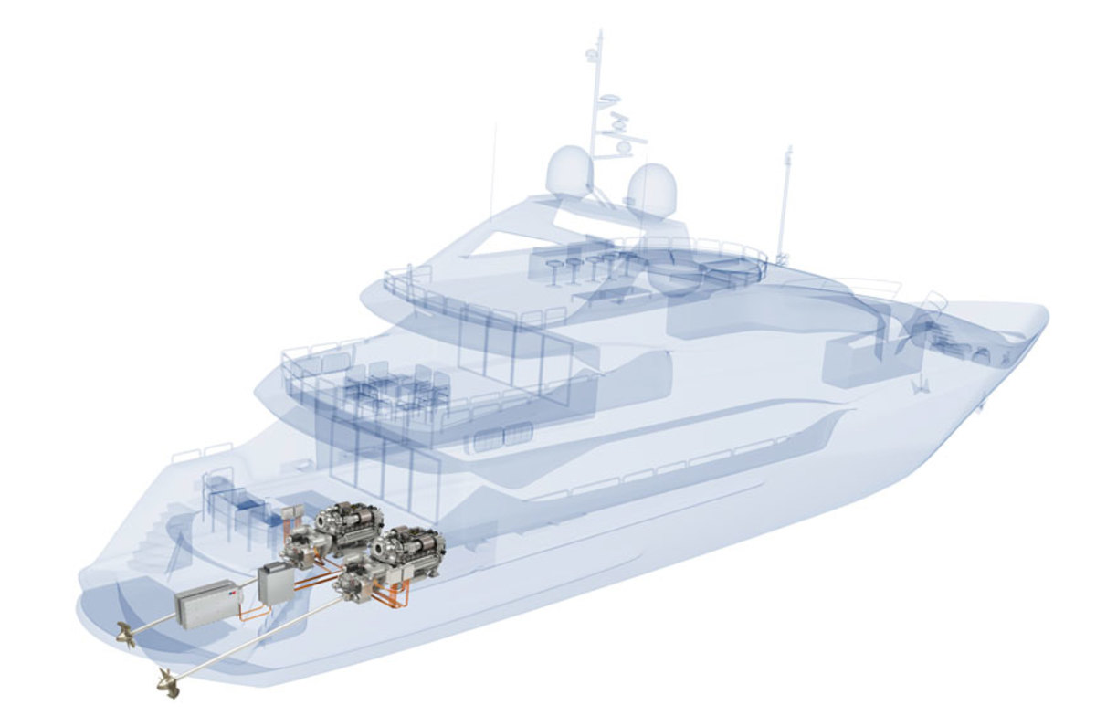Sunseeker's diesel hybrid system will be completely integrated.
