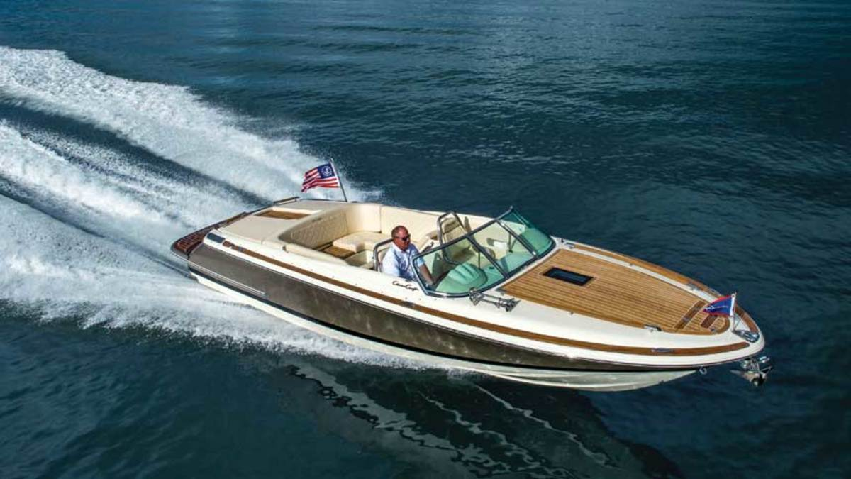 The Italian influence is undeniable in Chris-Craft's open Corsair boats.