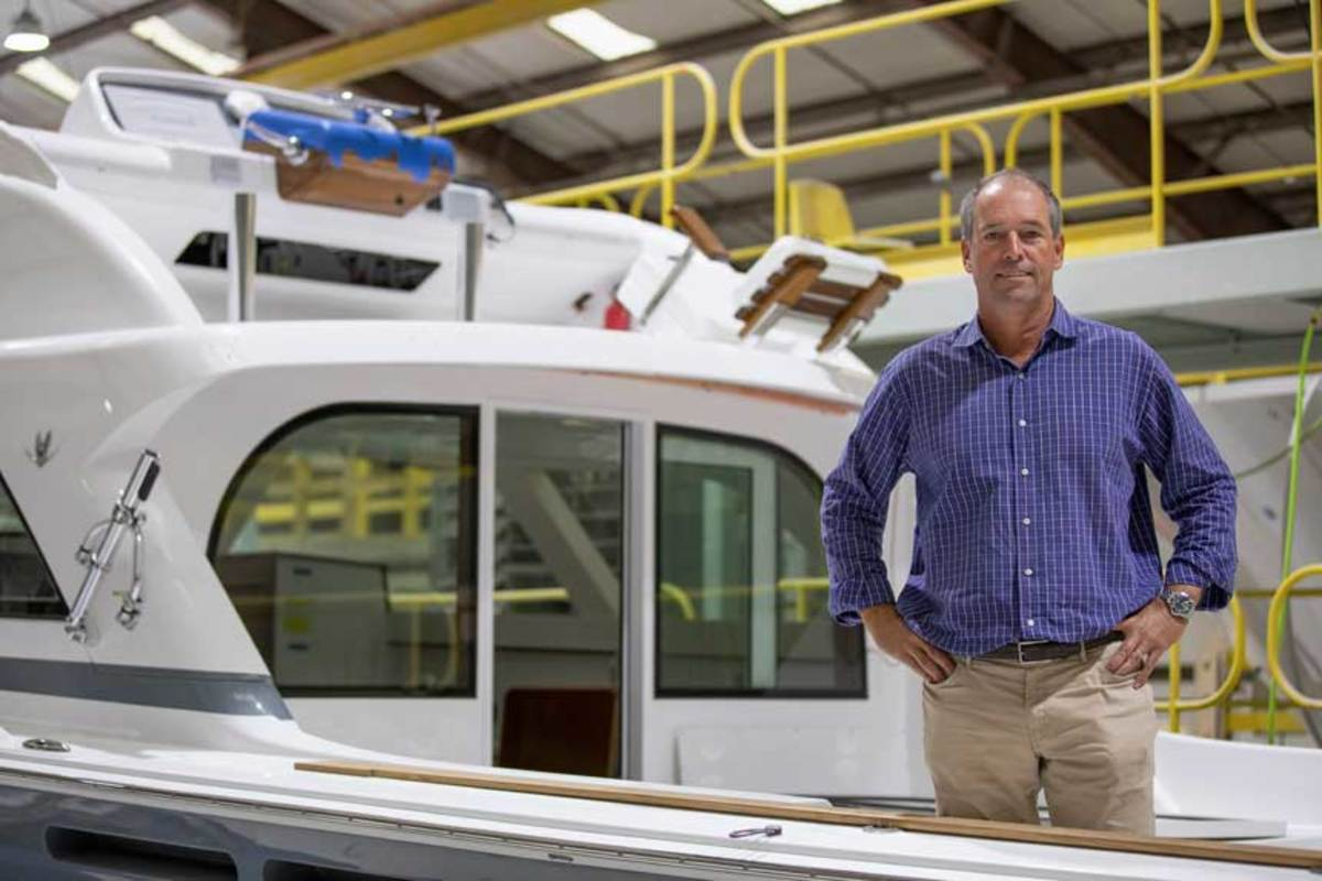 Bertram CEO Peter Truslow is concerned about the future of U.S. yacht building.