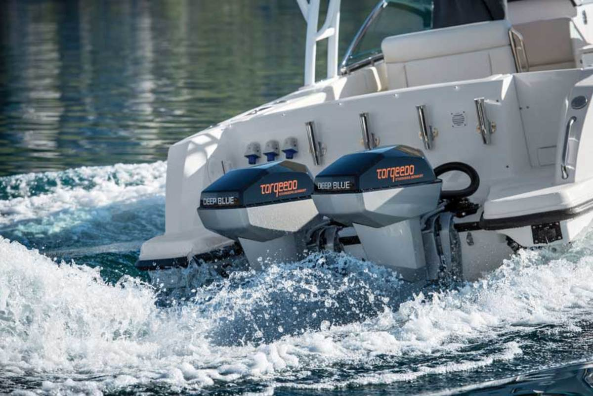 Torqeedo's Deep Blue outboards are among the most powerful electric motors available.