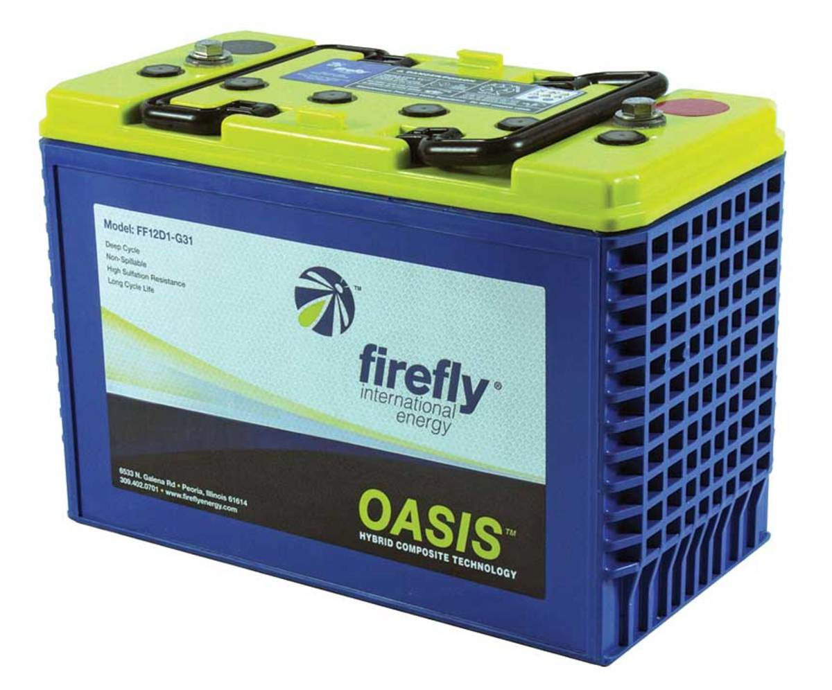 Firefly's Oasis batteries feature carbon-foam plates that provide more power in the same size case.