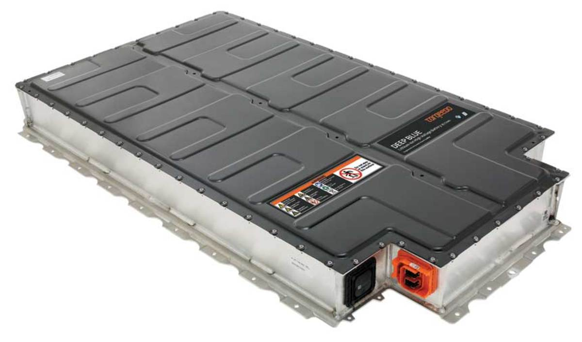 Torqeedo's Deep Blue battery is derived from a BMW automotive unit.