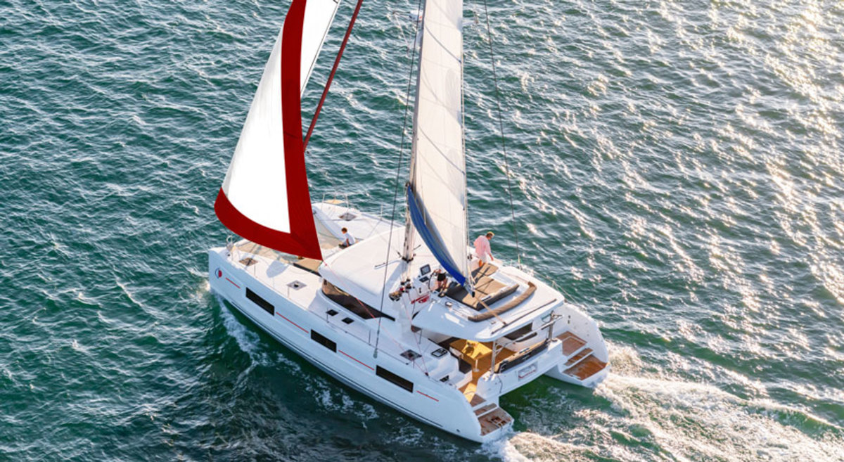 The Sunsail 464 has four cabins with accompanying heads.
