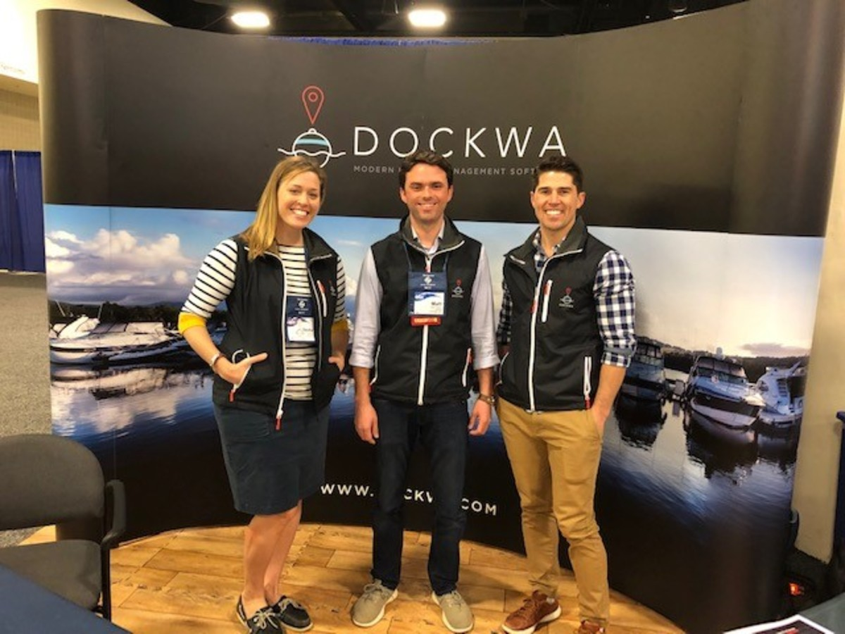 The team from Dockwa discussed their strong growth since the 2015 launch, along with technical enhancements to their marina management programs.