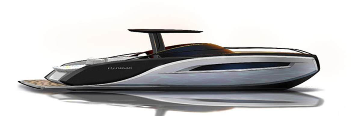 The 65-foot Lexus flybridge is scheduled to debut at FLIBS in the fall.