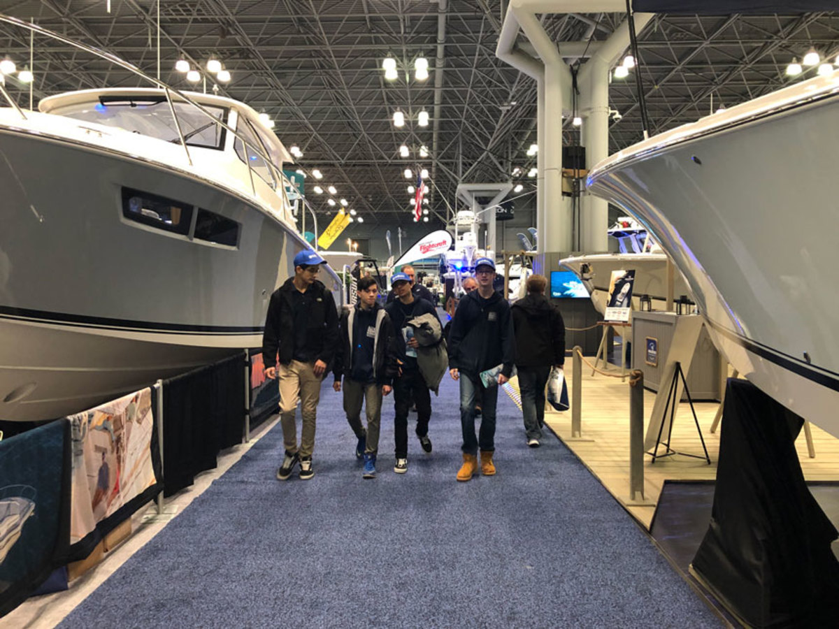 Exhibitors at the New York Boat Show were mostly optimistic, but many said buyers were hesitant to pull the trigger.