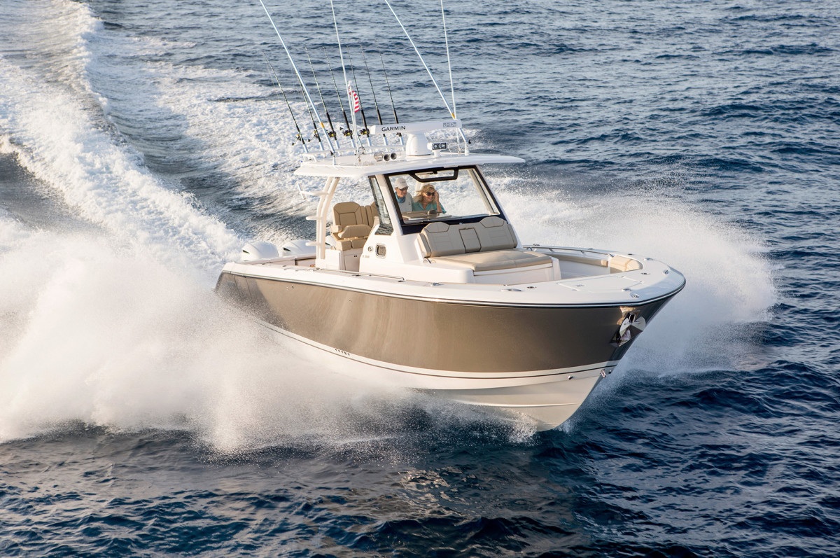 Gross margins softened as a result of the company's acquisition of Pursuit boats for $100 million.