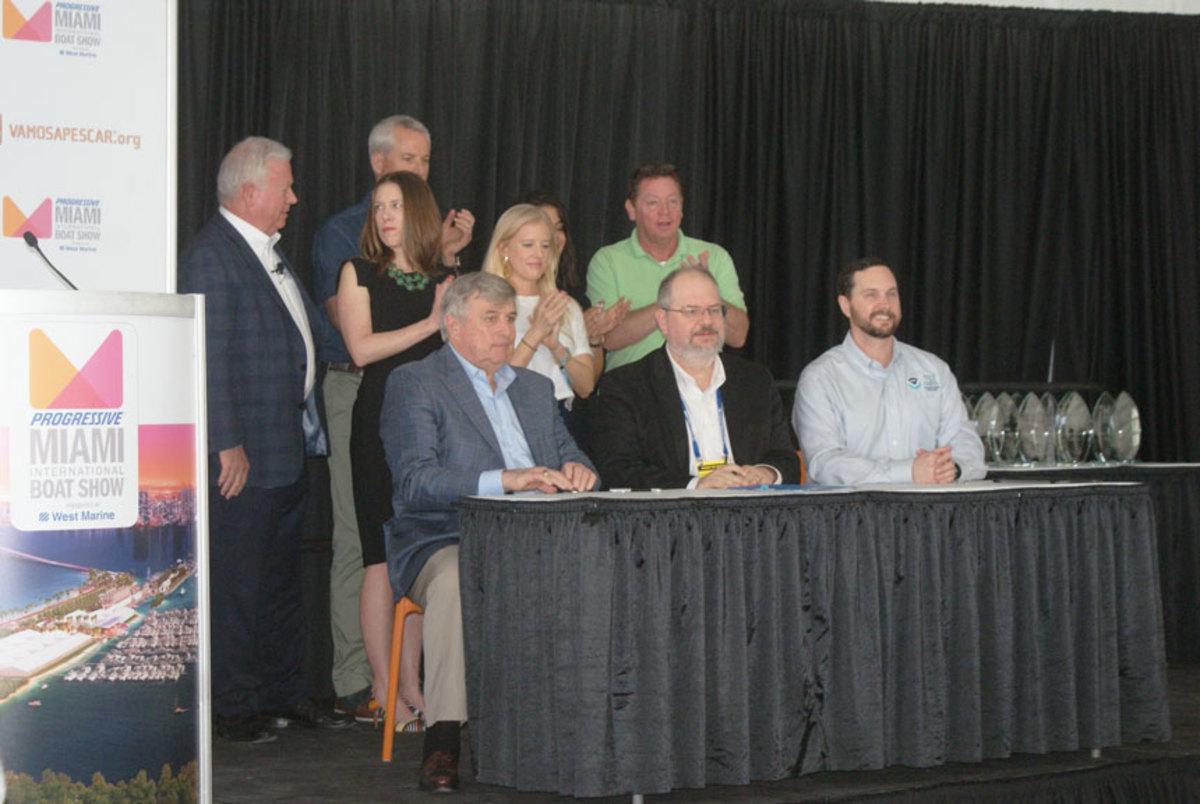 Signing the memorandum of agreement