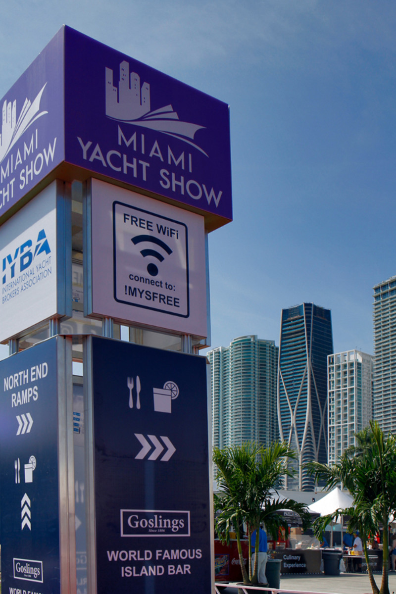 The Miami Yacht Show this year moved to a new home at One Herald Plaza.