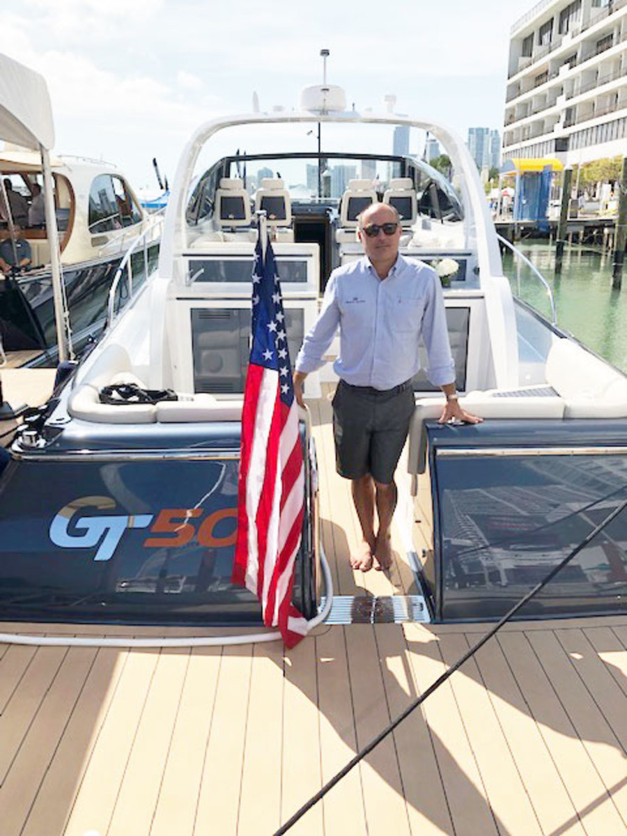 Managing Director Hank Compton on the new Palm Beach GT50 Open at the Miami Yacht Show.