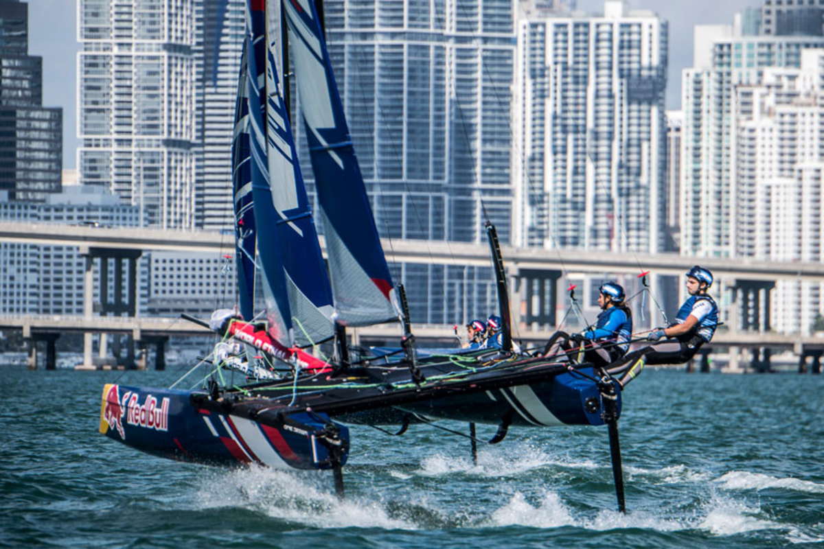 Yanmar's sponsorship of the Red Bull foiling series adds to its brand recognition.