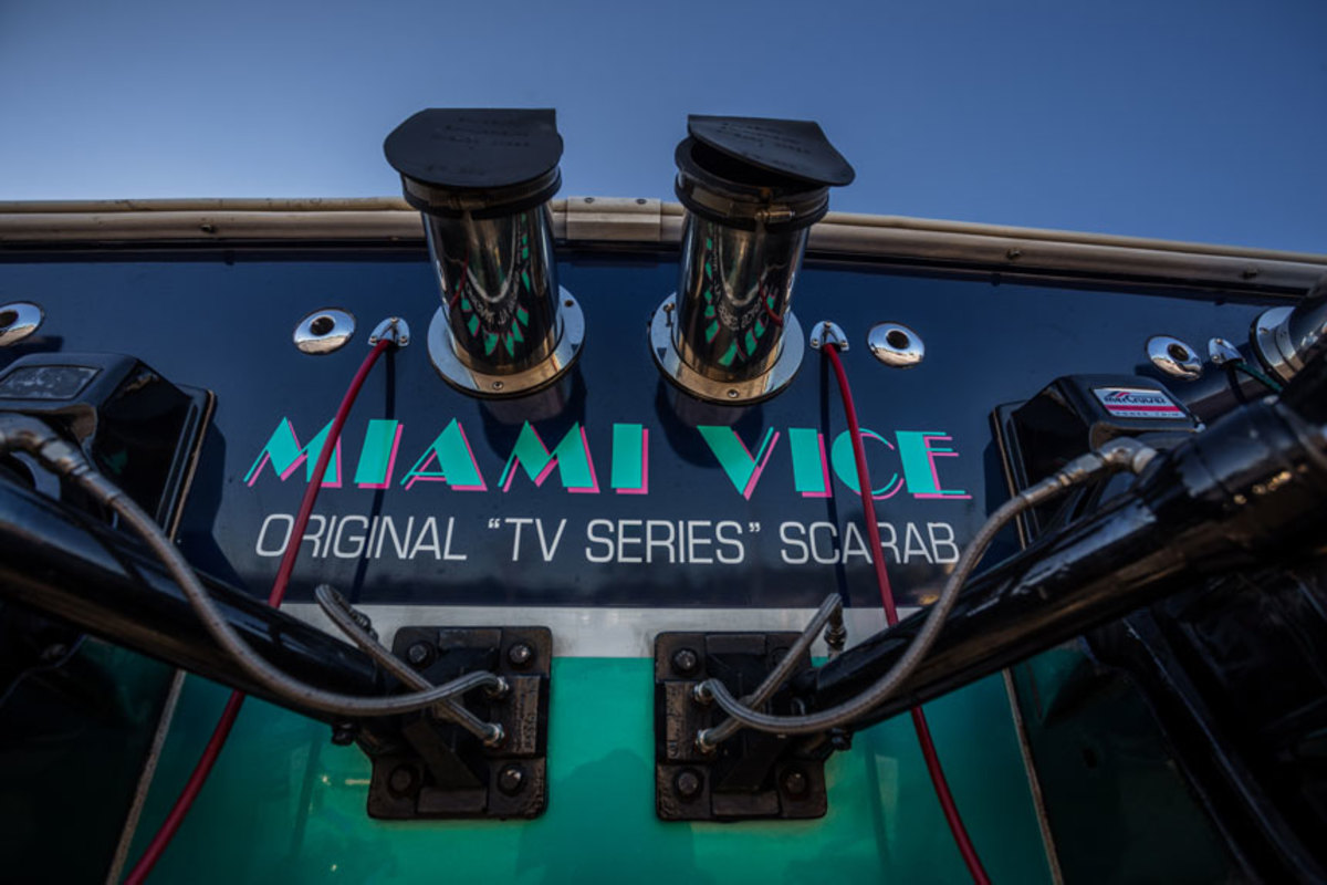 The boat has been verified as the original from Miami Vice.