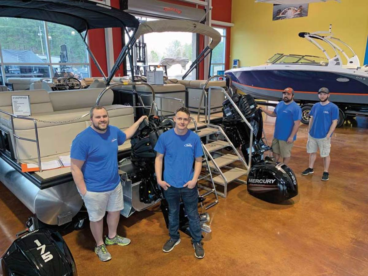 """At Rambo Marine, technicians are required to find their own apprentices. """"They take pride in who they bring in, """" Bennett Rambo says."""