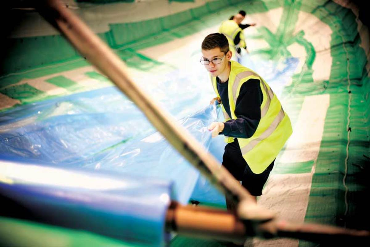 The highly competitive program at Princess Yachts starts apprentices as young as 16, but those who graduate are assured a full-time job.