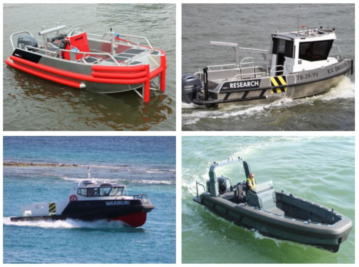 Stormer and SAFE Boats build models from enclosed pilothouse versions to center consoles.