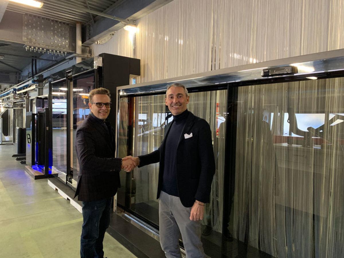 Besenzoni CEO Giorgio Besenzoni (r) and Timage's director Marcus Lanza