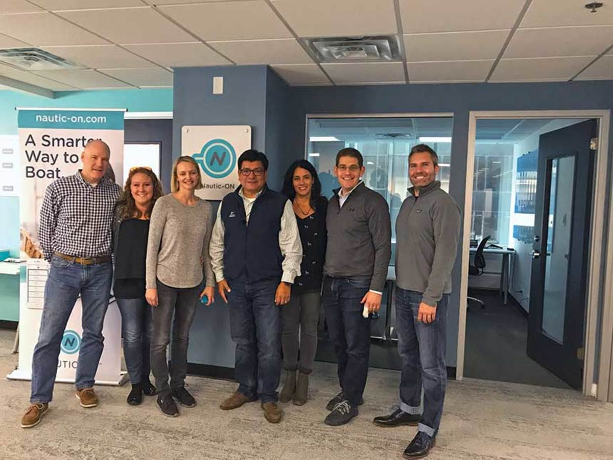 The NAUTIC-ON team functions as a small tech startup operating independently from parent Brunswick Corp.