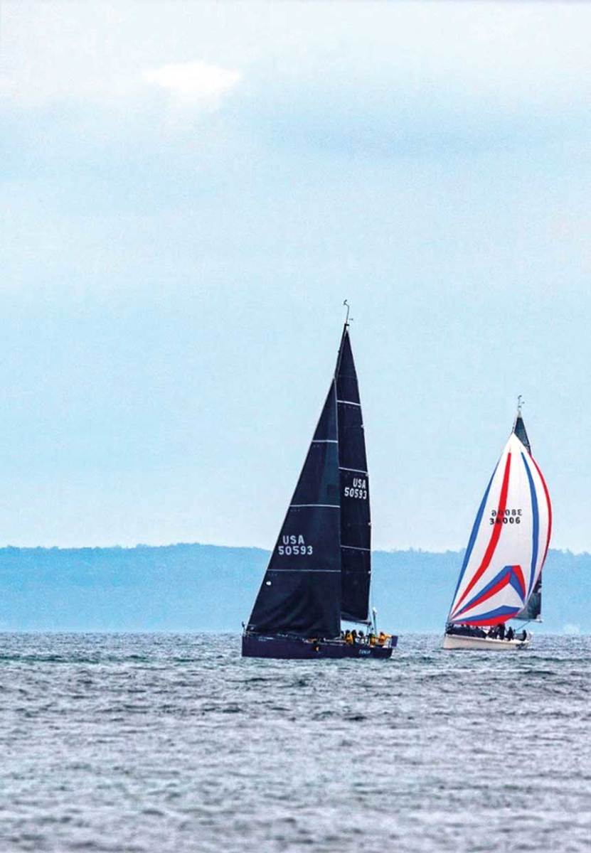 Tango in Blue, helmed by Martin Sandoval, finished just seconds ahead of Eagle, helmed by brother Lou, in the 2018 Chicago-Mackinac race.