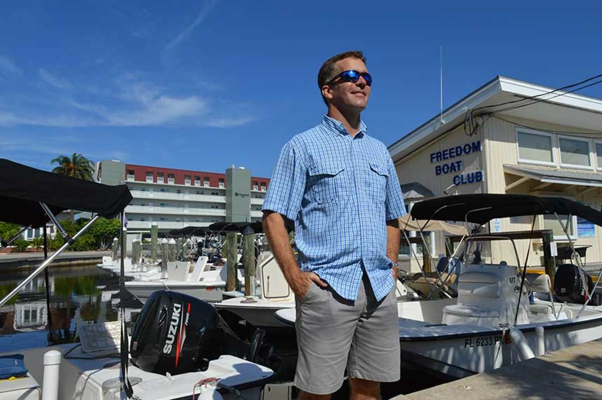 While business is good, Freedom Boat Club president John Giglio is keeping a close eye on the economy.