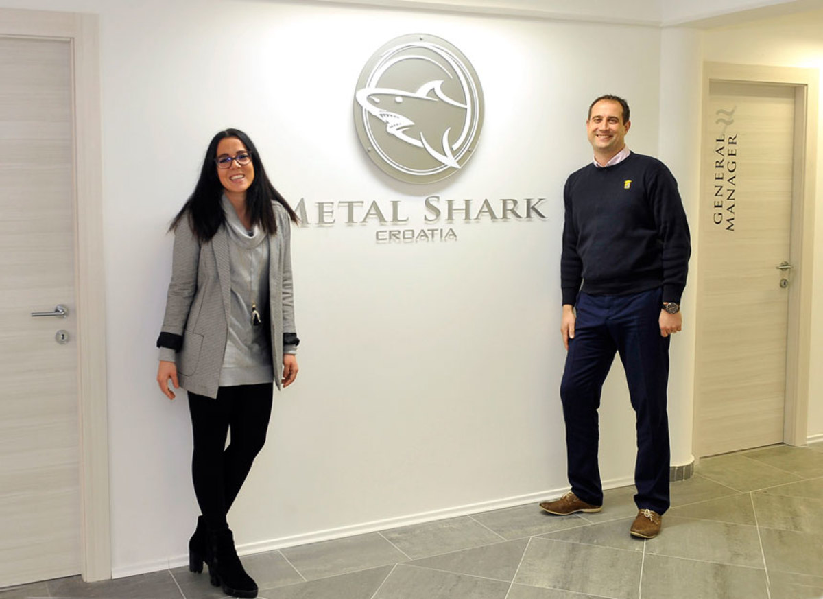 MS Croatia Image1: Managing Director Teuta Duletic (left) and Technical Manager Drazen Debelic at Metal Shark Croatia.