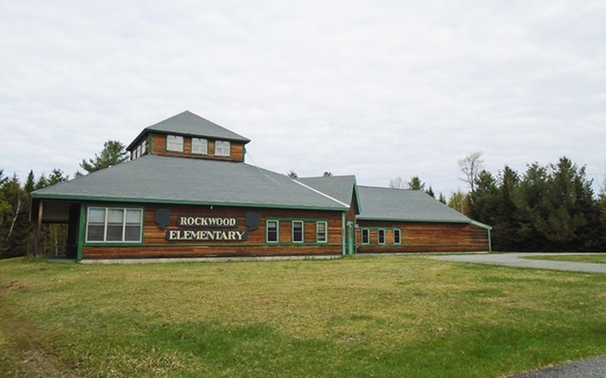 The former Rockwood Elementary School in Rockwood Maine will soon be used for storing boats. Courtesy The Boulos, Co.
