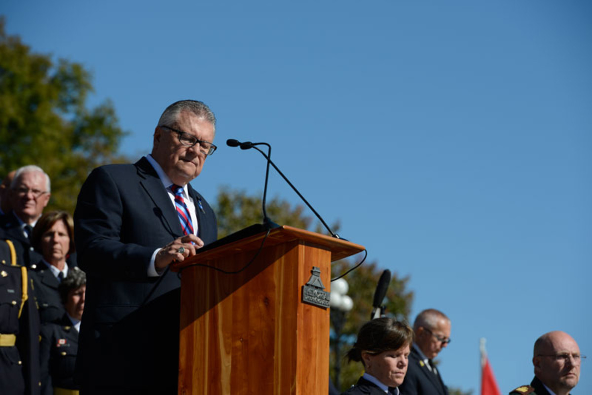 Ralph Goodale, Canada's minister of public safety and emergency preparedness
