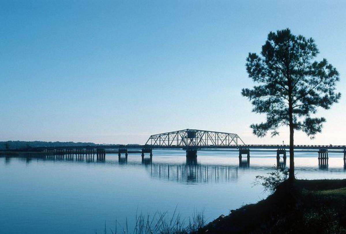 Beaufort County Bridge, where Melanie Beach went missing.