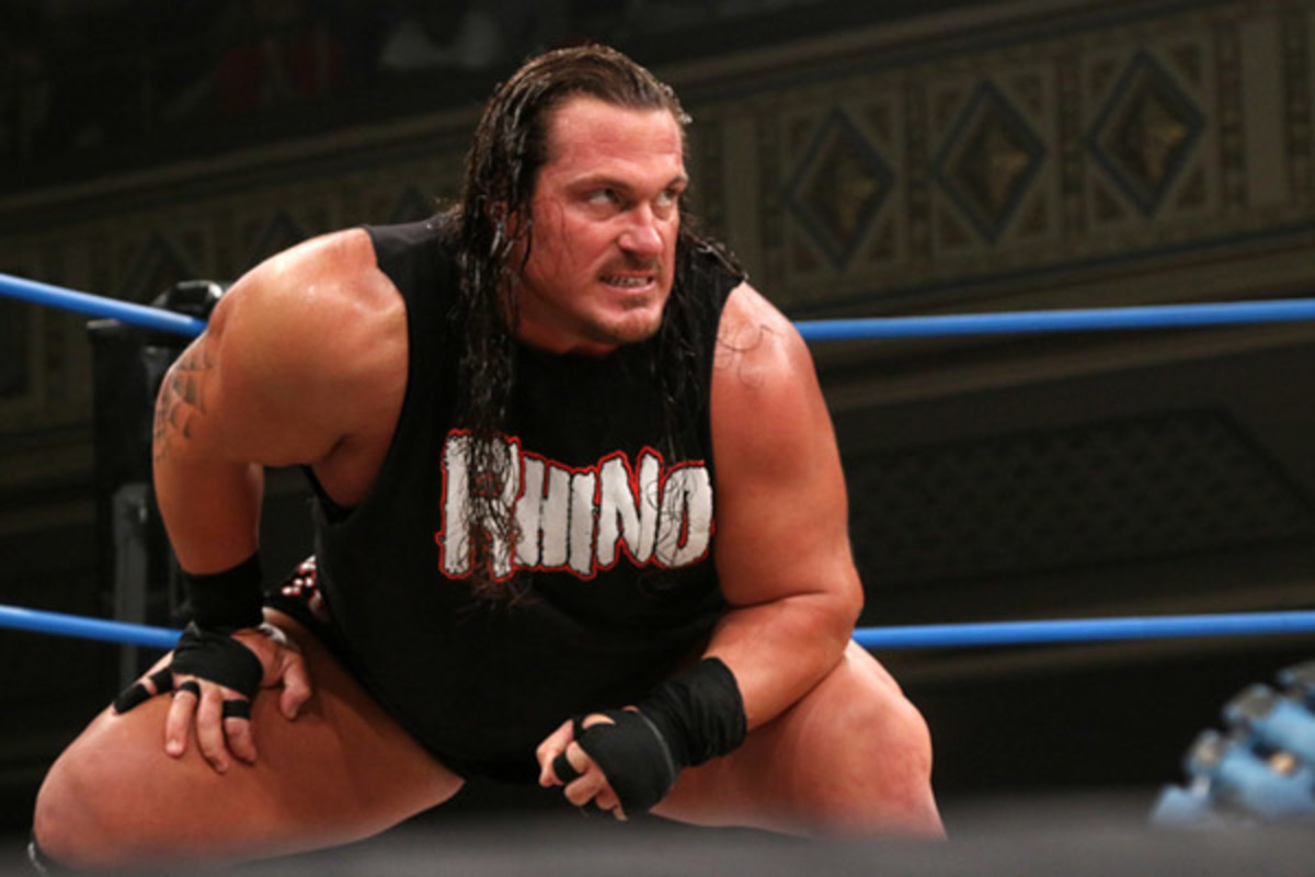 When he's in character, there's nothing laid back about Rhyno.