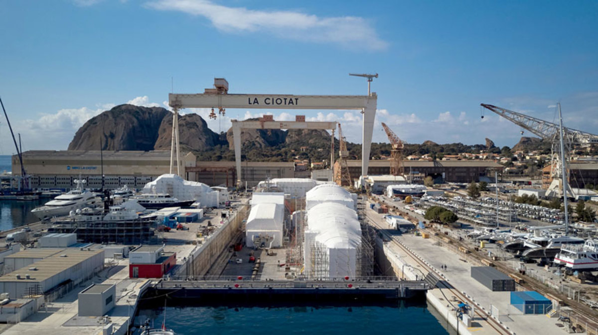 MB92's refit facility in La Ciotat has had its drydock lease extended through 2022