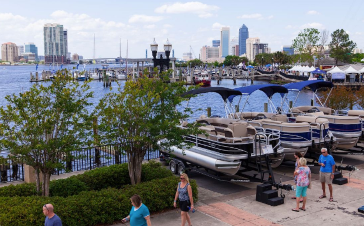The Jacksonville show features boats on land and in the water.