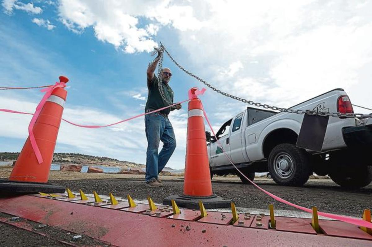 One-way traffic spikes will allow boaters to stay on the water longer. (Photo courtesy of the Loveland Reporter-Herald.