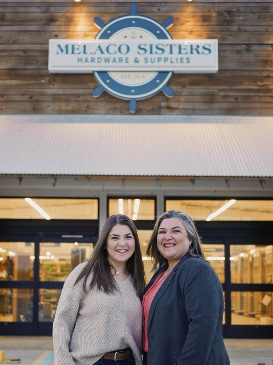 Melaco Sisters: Lauren Melancon (left) and Vanessa Melancon Pierce are passionate about supporting the local economy.