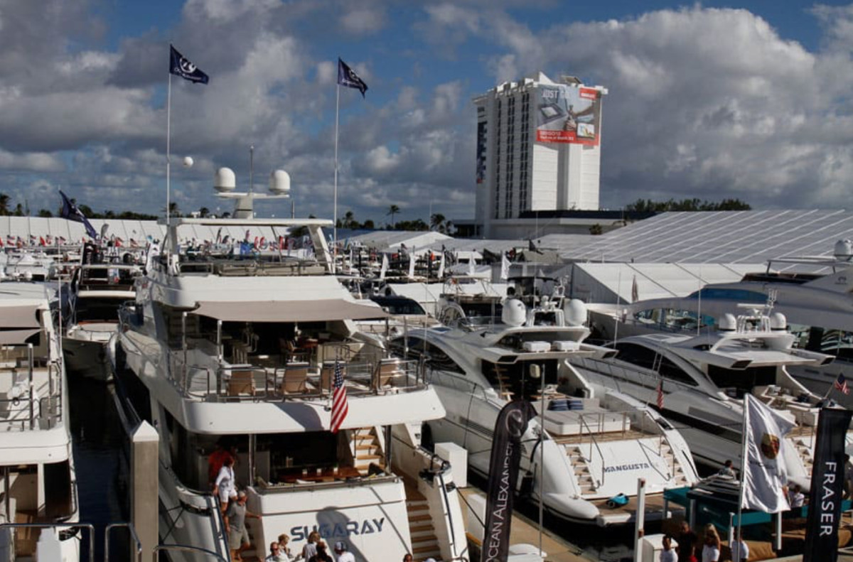 The Fort Lauderdale International Boat Show in 2018.