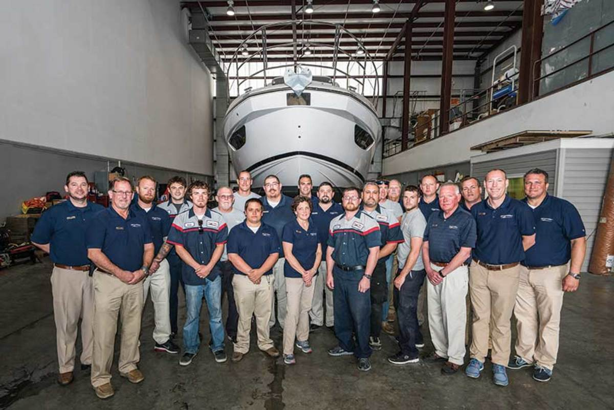 It takes a village: MarineMax Baltimore staff members share one goal across their many jobs: Increase customer satisfaction by making it easier for their customers to own a boat.