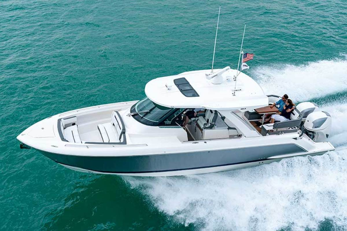 The Tiara Sport 38 was a joint integration project between Tiara, Volvo Penta and Seven Marine.