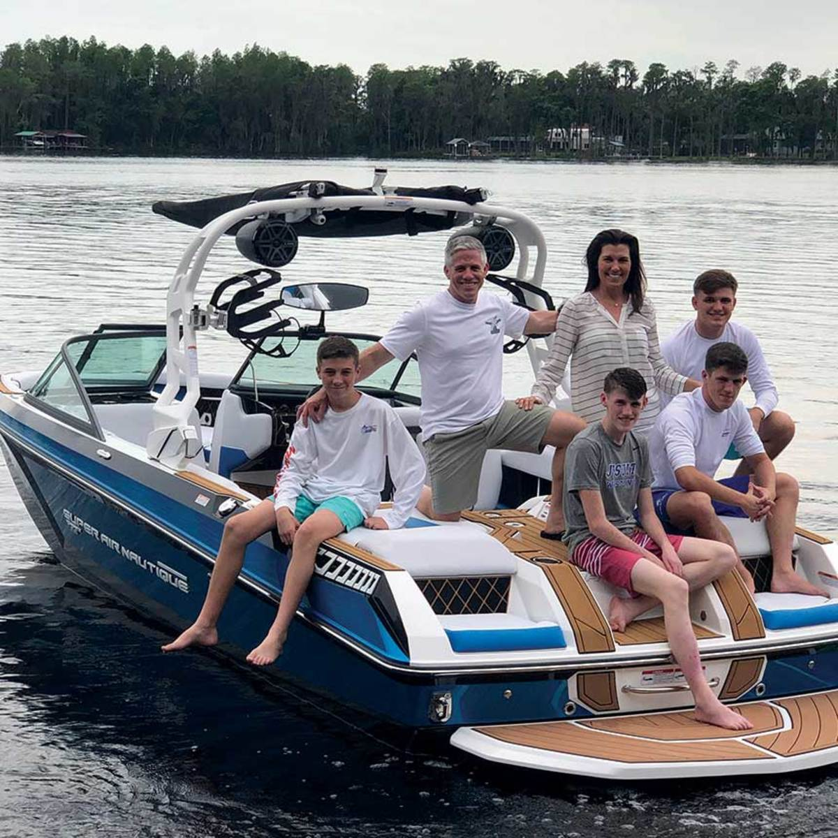 The McGills spend many weekends together on the family boat.