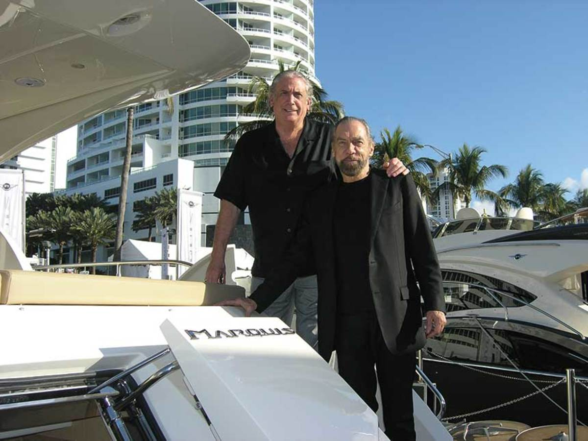 Irwin Jacobs with business partner, John Paul DeJoria.