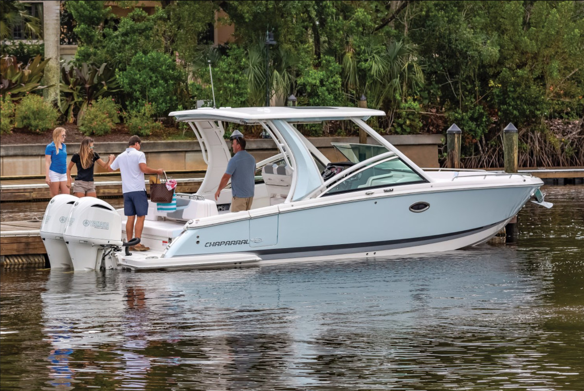 Sales of larger boats like Chaparral's 300 OSX Sport Luxury outboards helped boost gross profit.