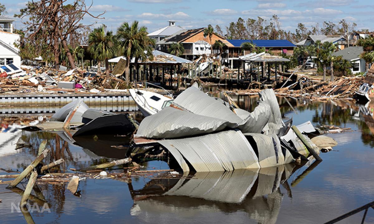 Hurricane Michael devastated Mexico Beach, Florida on Oct. 10, 2018. (U.S. Coast Guard)