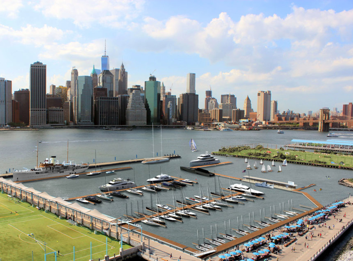 ONE°15 Brooklyn Marina is the first new marina in New York City in 50 years.