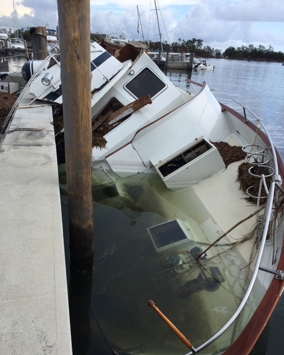 Boat insurers warn consumers how to determine a storm-damaged boat.