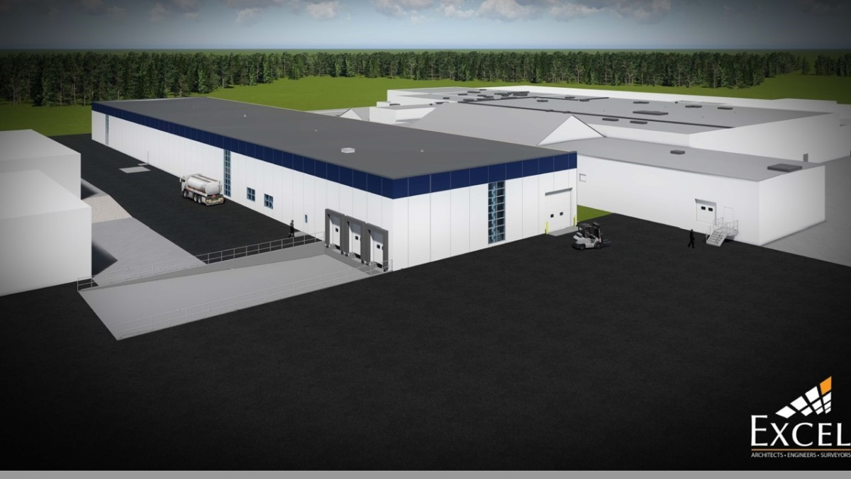 The architect's rendering of what the new facility will look like.